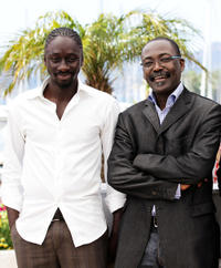 Diouc Koma and director Mahamat-Saleh Haroun at the photocall of