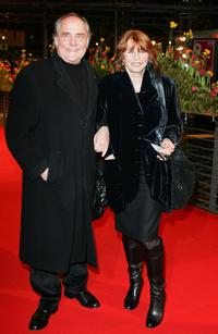 Senta Berger and husband Paul Verhoeven at the 58th Berlinale International Film Festival premiere of