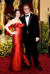 Lauren Miller and Seth Rogen at the 81st Annual Academy Awards.