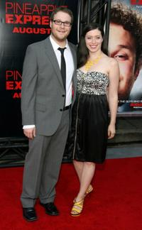 Seth Rogan and Lauren Miller at the premiere of