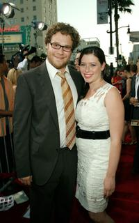 Seth Rogen and Lauren Miller at the premiere of