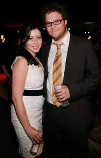 Lauren Miller and Seth Rogen at the after party of the premiere of