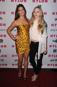 Ashley Greene and Portia Doubleday at the NYLON & YouTube Young Hollywood party.