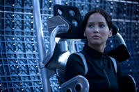 Jennifer Lawrence as Katniss Everdeen in