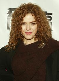 Bernadette Peters at the premiere of