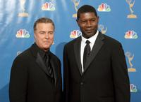 William L. Petersen and Dennis Haysbert at the 58th Annual Primetime Emmy Awards.
