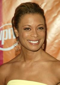 Valarie Pettiford at the UPN network upfront.
