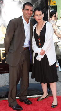 Lori Petty and Guest at the premiere of