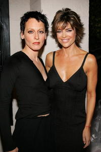 Lori Petty and Lisa Rinna at the 2005 Worldwide V-Day Campaign presentation of The Vagina Monologues.