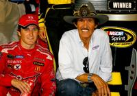 Kasey Kahne and Richard Petty at the NASCAR Sprint Cup Series Pep Boys Auto 500.