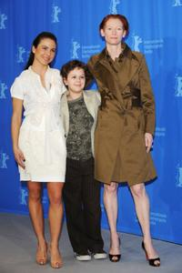 Kate del Castillo, Aidan Gould and Tilda Swinton at the 58th Berlinale Film Festival.