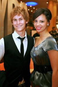 Rhys Wakefield and Sophia at the Sydney premiere of