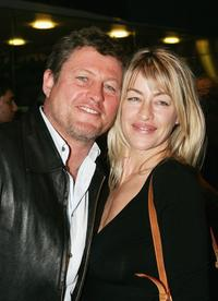 Peter Phelps and Donna at the premiere of