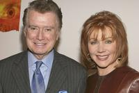 Regis Philbin and Joy Philbin at the premiere of