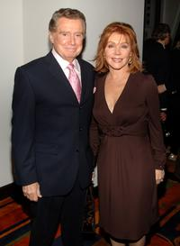 Regis Philbin and his wife Joy Philbin at the party to celebrate the publication of