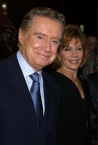 Regis Philbin and his wife at the opening night of