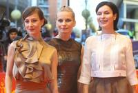 Maja Ostaszewska, Magdalena Cielecka and Danuta Stenka at the screening of