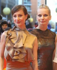 Maja Ostaszewska and Magdalena Cielecka at the screening of