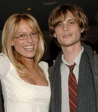 Samantha Phillips and Matthew Gray Gubler at the VIP Reception during the 14th Annual Diversity Awards Gala.