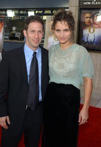 Director Tim Blake Nelson and Rain Phoenix at the Los Angeles premiere of