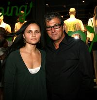 Rain Phoenix and Andrew Rosen at the Theory's Going Green event.