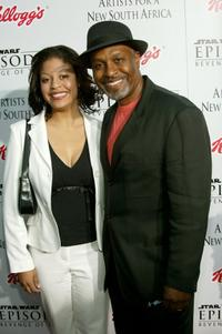 James Pickens, Jr. and guest at the Los Angeles premiere of