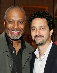 James Pickens, Jr. and Grant Heslov at the AFI Awards Luncheon 2005.