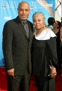 James Pickens, Jr. and wife Gina Pickens at the 38th annual NAACP Image Awards.