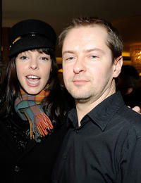 Pollyanna McIntosh and director/writer Stuart Hazeldine at the UK Film Council US Post Oscars Brunch in California.