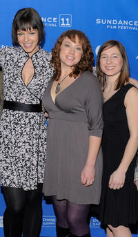 Pollyanna McIntosh, Lauren Petre and Alexa Marcigliano at the premiere of