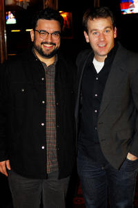 Horatio Sanz and Mike Birbiglia at the opening night of