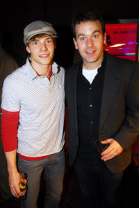 Hunter Parrish and Mike Birbiglia at the opening night of