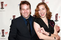 Mike Birbiglia and Kristen Schaal at the 26th Annual Lucille Lortel Awards in New York.