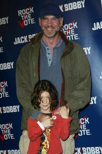 Mitch Pileggi and Sawter at the Rock The Vote event.