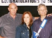 Mitch Pileggi, Chris Carter and David Duchovny at the celebration of the 200 episodes of