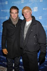 Chris Pine and Robert Pine at the premiere of