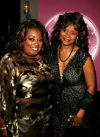 Star Jones and Tonya Pinkins at the after party of the play opening of