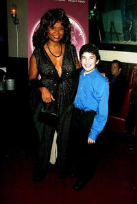 Tonya Pinkins and Noah Harrison Chad at the after party of the play opening of