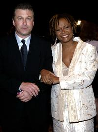 Alec Baldwin and Tonya Pinkins at the 2004 Drama League Awards luncheon and ceremony.