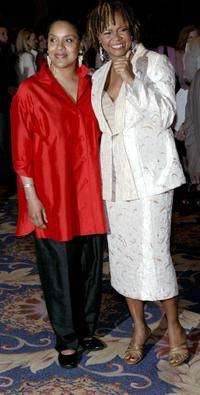 Phylicia Rashad and Tonya Pinkins at the 2004 Drama League Awards luncheon and ceremony.