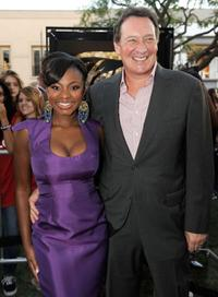 Naturi Naughton and producer Gary Lucchesi at the premiere of