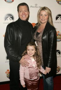 Joe Piscopo and family at the premiere of