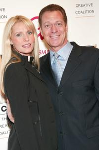 Joe Piscopo and wife Kimberly at the 2003 Creative Coalition Spotlight Awards.