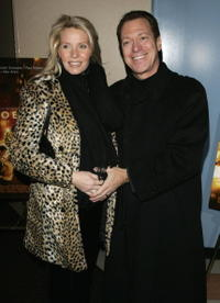 Joe Piscopo and his wife at the premiere of