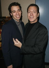 Joe Piscopo Jr. and Joe Piscopo at the premiere of