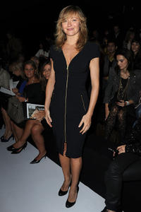 Julie Ferrier at the Elie Saab Ready to Wear Spring/Summer 2011 show during the Paris Fashion Week.