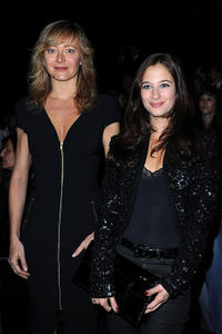 Julie Ferrier and Guest at the Elie Saab Ready to Wear Spring/Summer 2011 show during the Paris Fashion Week.