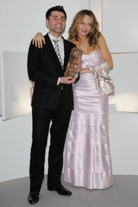 Director Pierre Pinaud and Julie Ferrier at the Cesar Film Awards 2009.