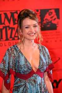 Carolina Crescentini at the 70 years of Cinecitta Studios Party.