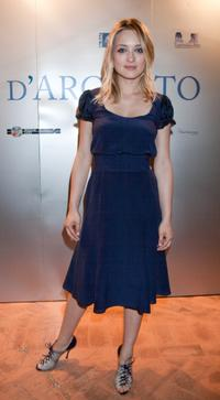 Carolina Crescentini at the 2009 Nastri D'Argento Nominations dinner party.